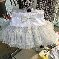 Детская  одежда  Юбка пышная трехслойная для девочек размер 4-5 года