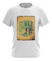 """Мужская футболка с модным рисунком """"Серфинг"""""""