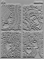 """Коврик Clay&Craft реплика LisaPavelka """"Лица"""" FACES,с глубокой текстурой"""