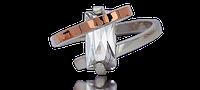 Серебряное кольцо 925 пробы с накладками золота 375 пробы Агата