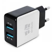 Зарядное устройство  Drobak Power Dual 220V-USB (White/Black)