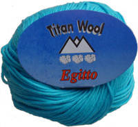 Пряжа для вязания Эджитто TITAN WOOL морск волна 285