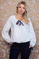 Качественная женская белая блузка в романтическом стиле