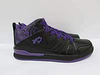 Мужские кроссовки Athletic баскетбол (11109-3) черные с фиолетовым код 0155А