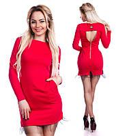 Женское мини платье с карманами
