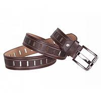 Оригинальный мужской кожаный ремень под брюки (0746)