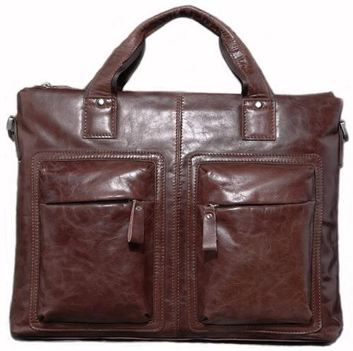 Стильная кожаная сумка Jasper & Maine 7177C кофейный