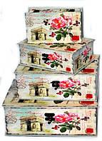 Современный дизайн сундучки шкатулки набор 4 шт в стиле Прованс