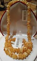 """Янтарные бусы  и браслет """"Классика"""" из натурального шлифованного янтаря"""