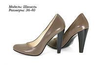 Туфли на каблуке кожаные, фото 1