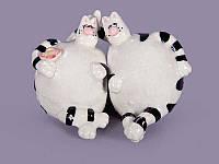 """Набор фигурок фарфоровых 7 см. """"Коты-толстячки"""""""