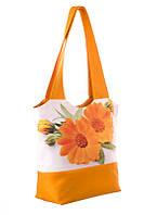 Большая женская сумка с цветочным рисунком