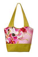 Текстильная женская сумка с цветочным рисунком