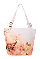 Женская текстильная сумка-трапеция Бабочки