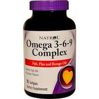 Natrol, Омега 3-6-9, со вкусом лимона, 90 жевательных капсул