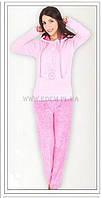 Домашний костюм женский велюровый Vienetta Secret модель 5110 розовый