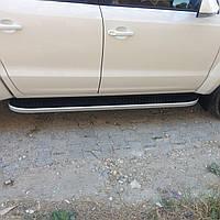 Пороги Tayga (алюминий +пластик) для Audi Q5