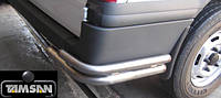 Защита заднего бампера - углы двойные для Ford Transit 2008+ 2015+ короткая длинная базы