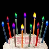 Свечи для торта с цветным пламенем   набор из 12 шт.