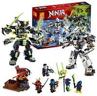 Конструктор Lele Ninja 79121 Битва Титановых Роботов (аналог Lego Ninjago) 782 дет