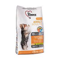 1st Choice (Фест Чойс) с курицей сухой супер премиум корм для взрослых собак мини и малых пород  - 2.72 кг