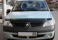 Дефлектор капота ( мухобойка ) Dacia Logan 2005-2014