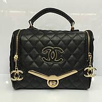 Женская сумка клатч Chanel Boy (Шанель Бой) 1237 черная стеганая