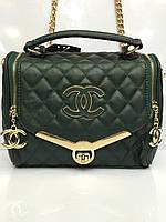 Женская сумка клатч Chanel Boy (Шанель Бой) 1239  стеганая зеленая