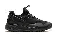 Кроссовки мужские Nike Huarache Utility All Black (найк, оригинал) черные