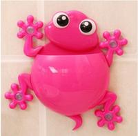 Держатель для зубных паст, щеток Жабка (розовый)