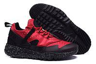 Кроссовки мужские Nike Huarache Utility Black Red (найк, оригинал) черно-красные
