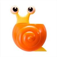 Держатель для зубных паст, щеток Улитка (Оранжевый)