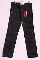 Мужские камуфляжные джинсы с накладными карманами