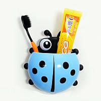 Держатель для зубных паст и щеток Божья коровка (голубой)