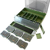 Коробка (бокс) для карповой рыбалки 365х290х59 мм Акрополис(Acropolis)КБ-1