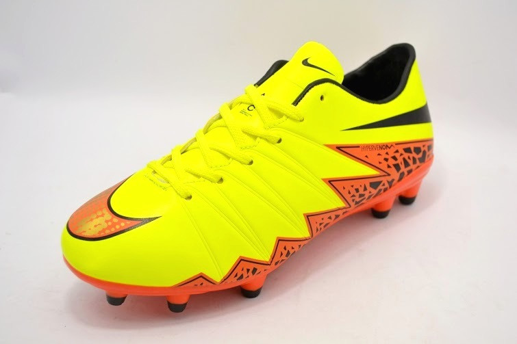 Футбольные бутсы Nike Hypervenom Phelon II FG Yellow/Black/Orange