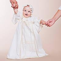 Платье Винтажное от Miminobaby кремовое от 6 до 12 месяцев