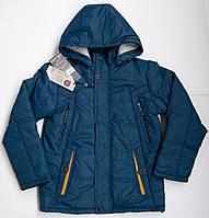 Детская куртка - парка демисезонная на мальчика 6 - 11 лет