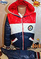 Детская Куртка - жилетка на мальчика демисезонная Париж  от 5-8 лет