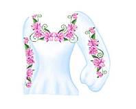 Заготовка для женской вышиванки. Схема для вышивки бисером
