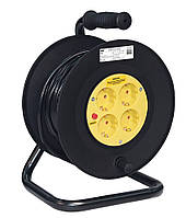 Катушка УК30 с термозащитой 4 места 2P+PE 3x1,5 мм²/30 метров, IEK