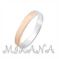 Серебряное кольцо с золотой накладкой Арт.010
