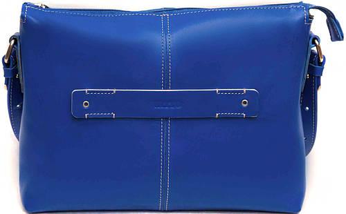 Стильная синяя женская кожаная сумка через плечо VATTO Wk31Kaz680