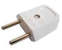 Разъем бытовой «вилка» 2P (без заземления) РП 8534, АСКО-УКРЕМ