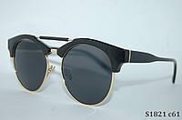 Солнцезащитные очки Handmade с однотонной линзой
