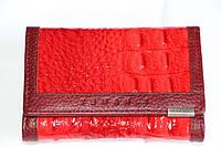 """Маленький женский кожаный кошелек красного цвета """"TEMANLI"""""""