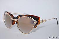 Солнцезащитные очки Handmade с зеркальной линзой