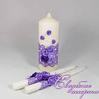 """Набор свадебных свечей """"Семейный очаг"""" №6"""