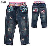 Джинсы Hello Kitty для девочки. 95, 95, 100, 110, 120 см