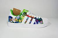 Женские кроссовки Adidas Superstar Foundation, текстиль, Р. 37 38 39 40